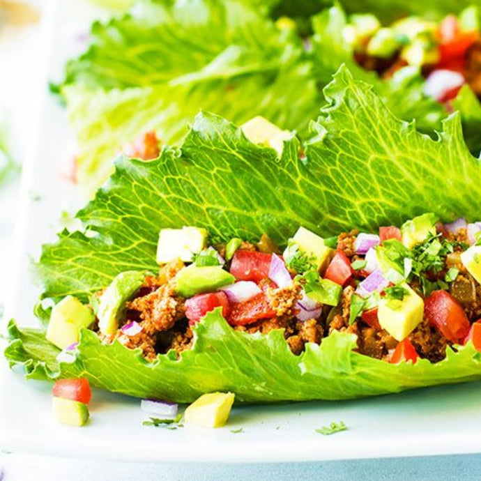 Ground Turkey Taco Lettuce Wraps