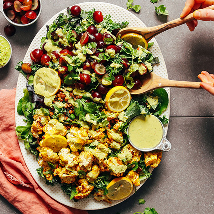 CURRIED CAULIFLOWER, GRAPE, & LENTIL SALAD