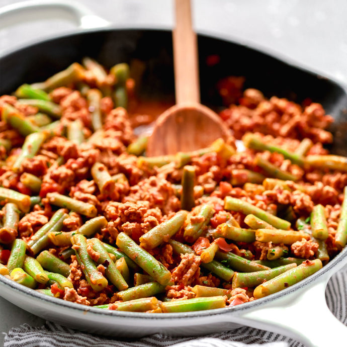 Ground Turkey Skillet with Green Beans