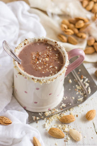 Healthy Almond Milk Hot Cocoa (VEGAN, DAIRY-FREE)
