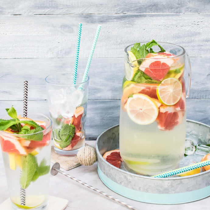Grapefruit, lemon & Mint infused water