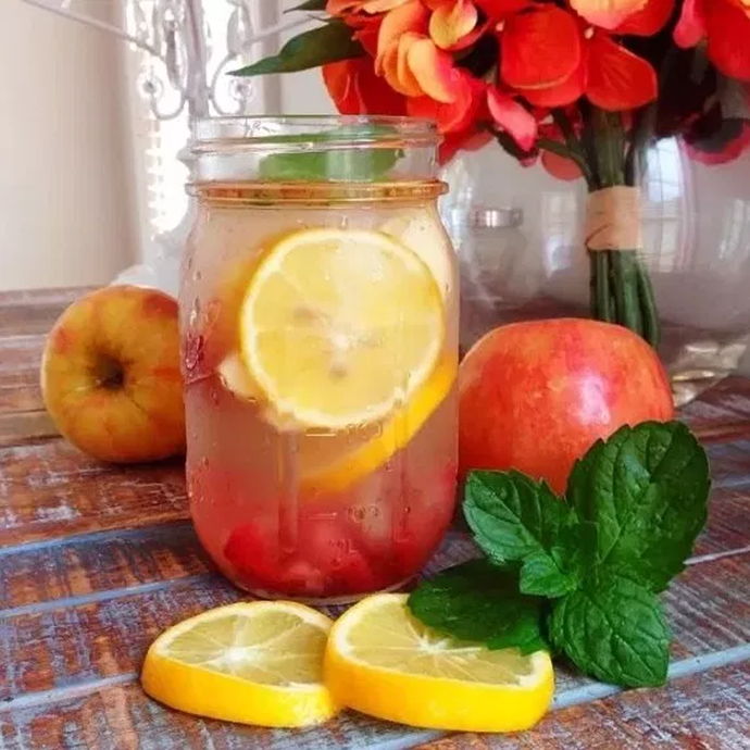Lemons, Strawberries, Apple, Mint, and Cinnamon