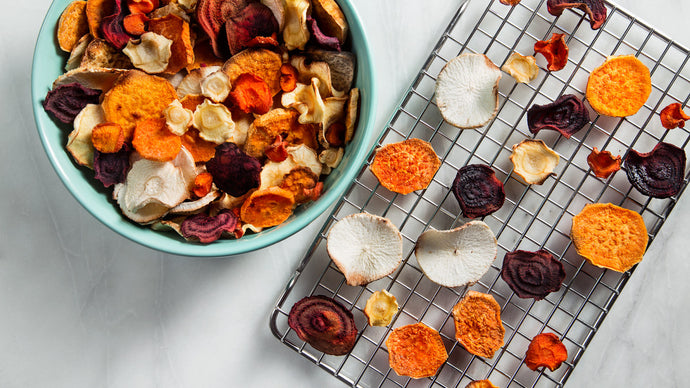 Crispy Seasoned Vegetable Chips (Vegan and Gluten-Free Appetiser)