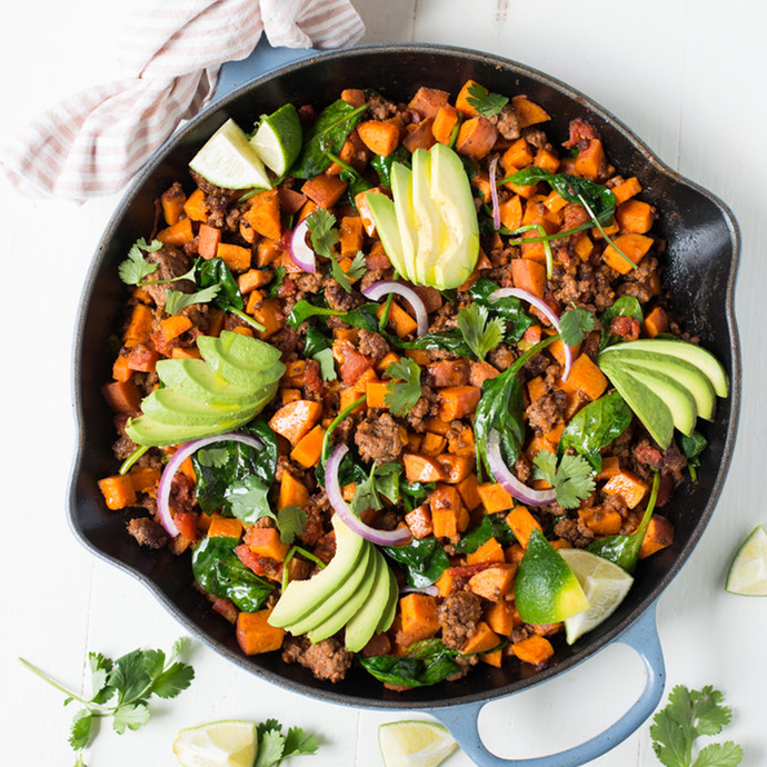Southwest Beef & Sweet Potato Skillet