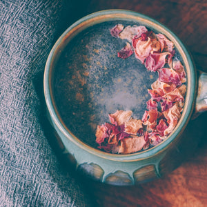 Ginger Rose Activated Charcoal Latte