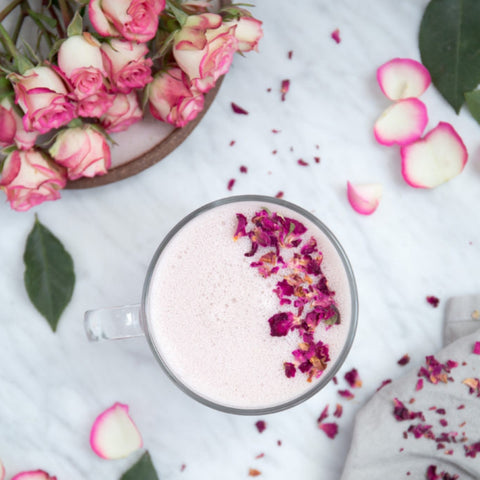 Rose latte dairy free