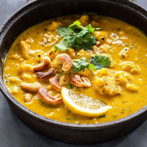 Cauliflower Cashew Mango Curry