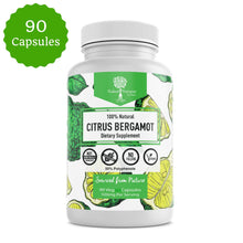Organic Quality Citrus Bergamot- Highest >50% Polyphenols- Vegan 90 caps- 3rd Party tested