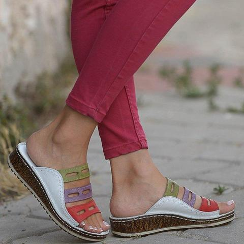 three colors sandals