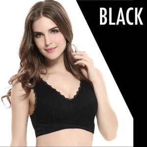 OVAFit™: Front Cross Wireless Lace Lift Comfort Bra