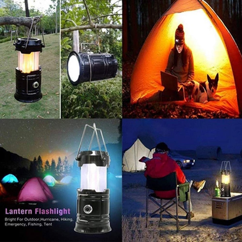 LIPO LED™: Portable Outdoor LED Flame Lantern Flashlights