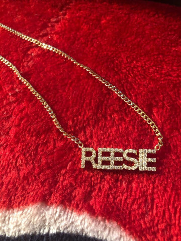 Crystal Custom Name Necklaces!