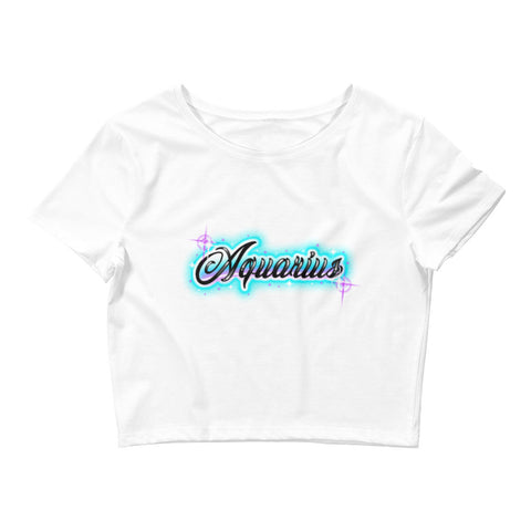 Aquarius the Water Bearer Crop Tee