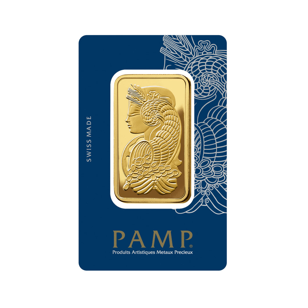 999.9 Pamp Suisse Lady Fortuna Gold Bar