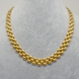 Golden Rice Flat Necklace - Vintage