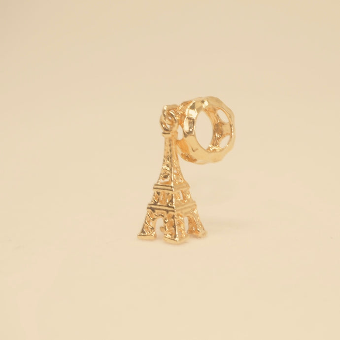 Gold Dangling Eiffel Tower Charm