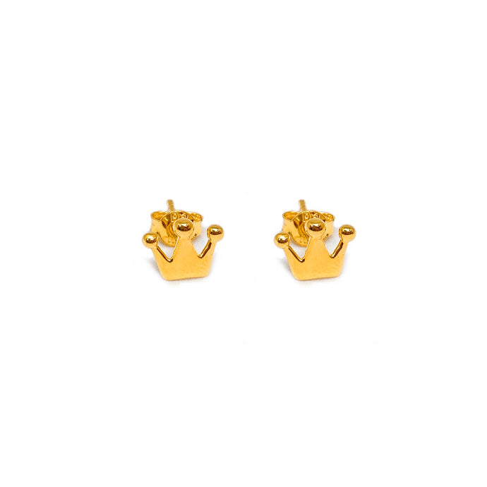 Simple Crown Earring Stud