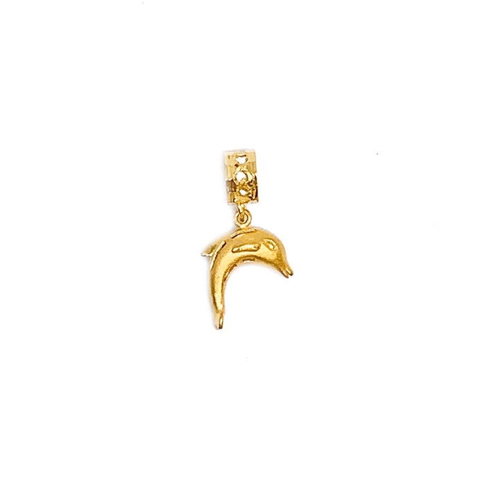 Dangling 3D Dolphin Charm