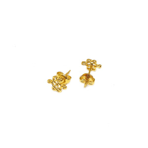 Push Type Plain Ruyi Earring Stud