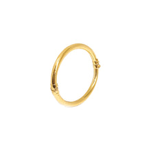 Lock Spring Type Plain Tube Bangle - Oval