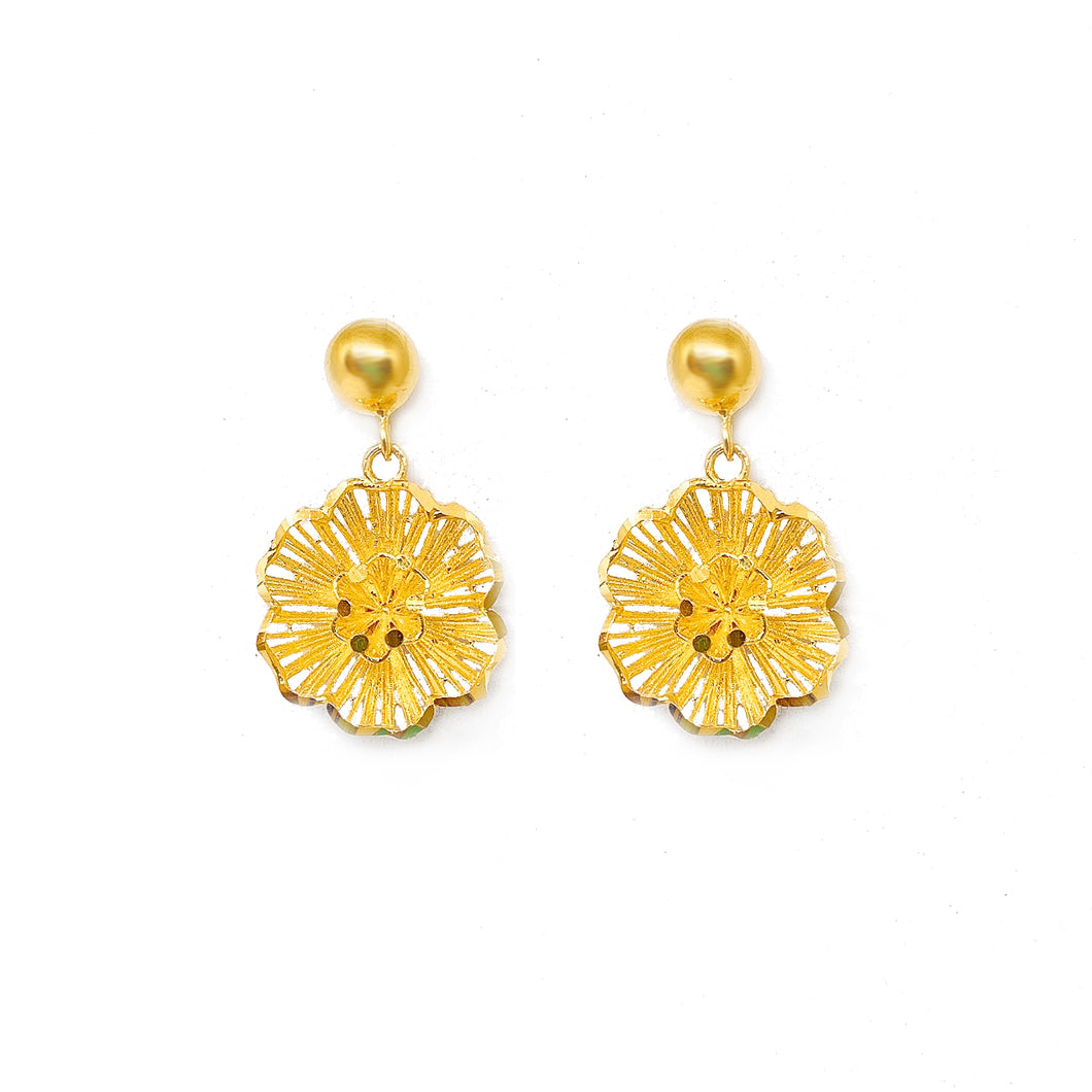 Dangling Intricate Flower Earring Stud