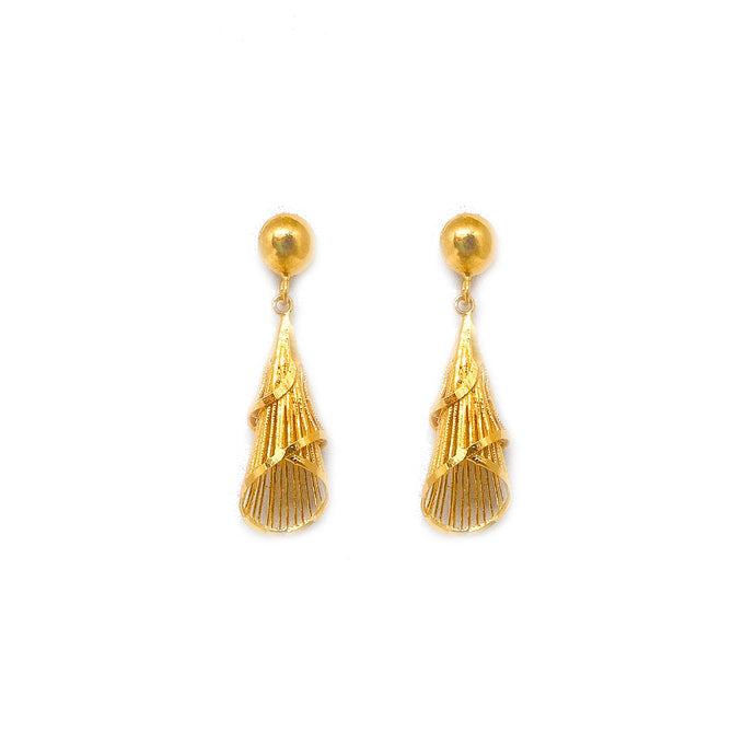 Dangling Double Cone Earring Stud