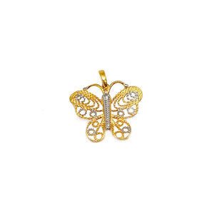 Two Tone Butterfly Cut Out Pendant