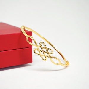 Mystic Knot Thin Bangle