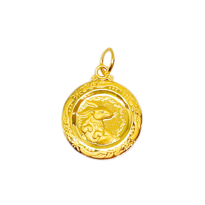 Zodiac Medallion Pendant - Rabbit