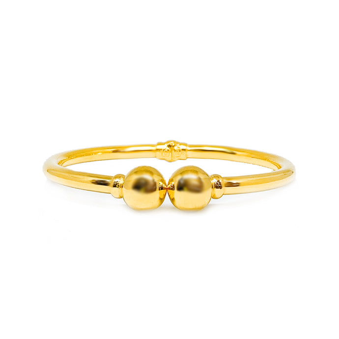 Double End Ball Tip Plain Bangle - Oval