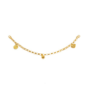 Oriental Charms Baby Anklet - Ruyi and Bagua
