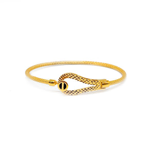 Buckle Thin Mesh Bangle