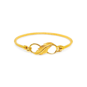 Infinity Feather Thin Mesh Bangle