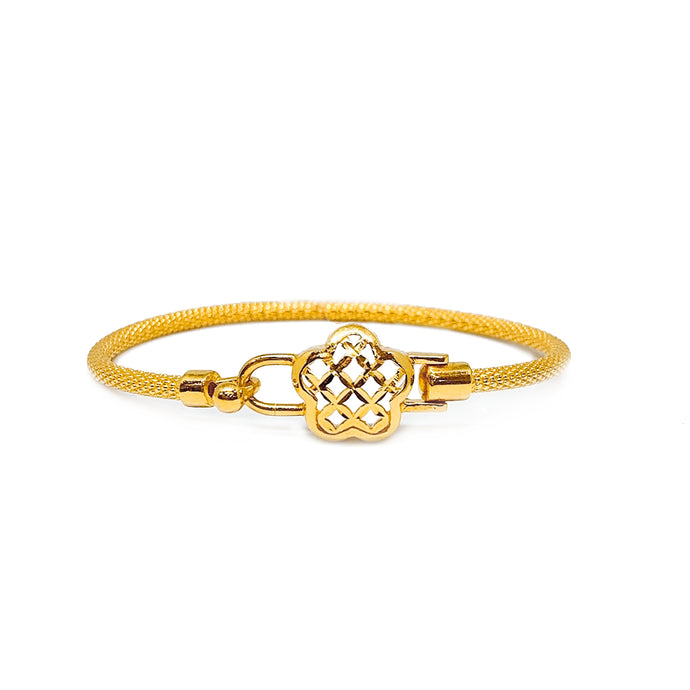 Flower Thin Mesh Bangle