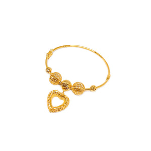 Dangling Mesh Heart Bangle
