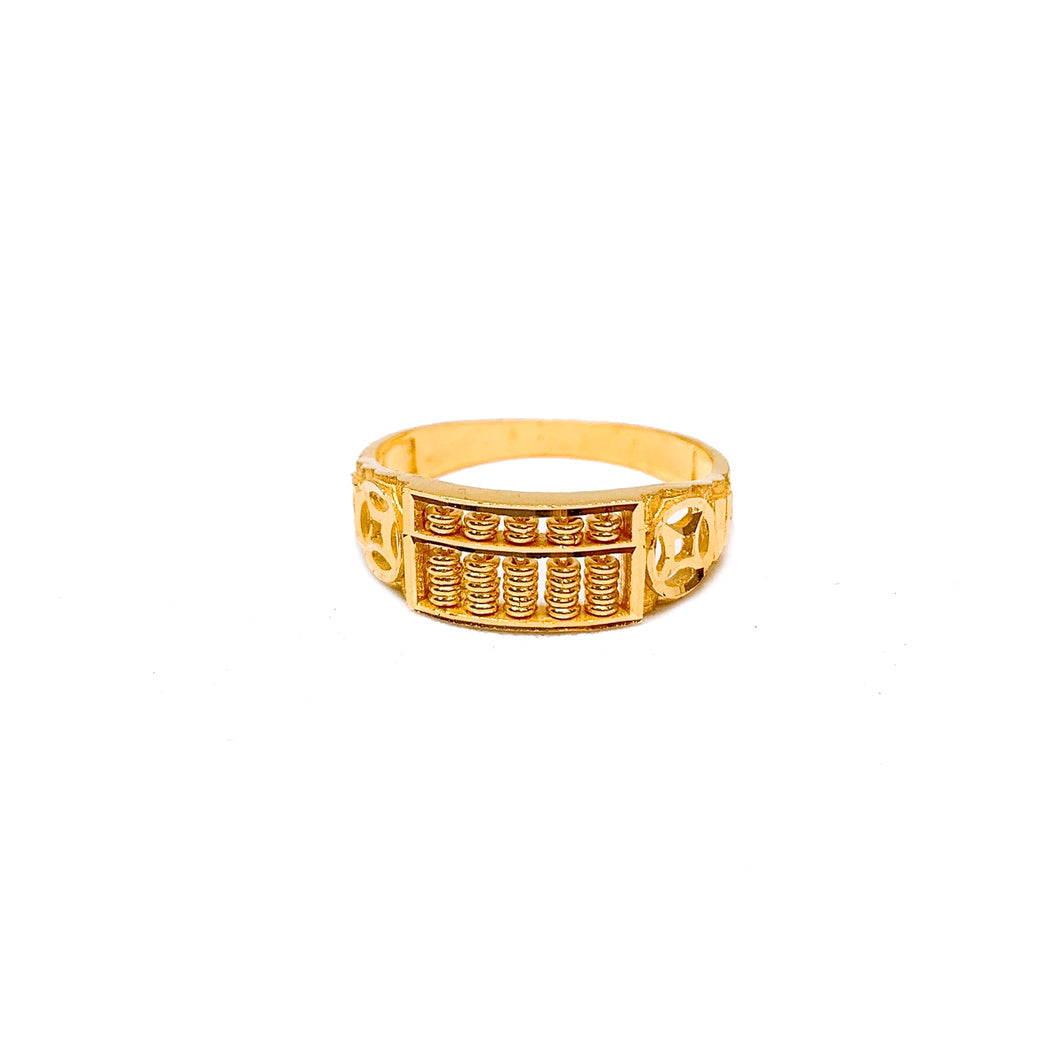 Half Abacus Coin Ring