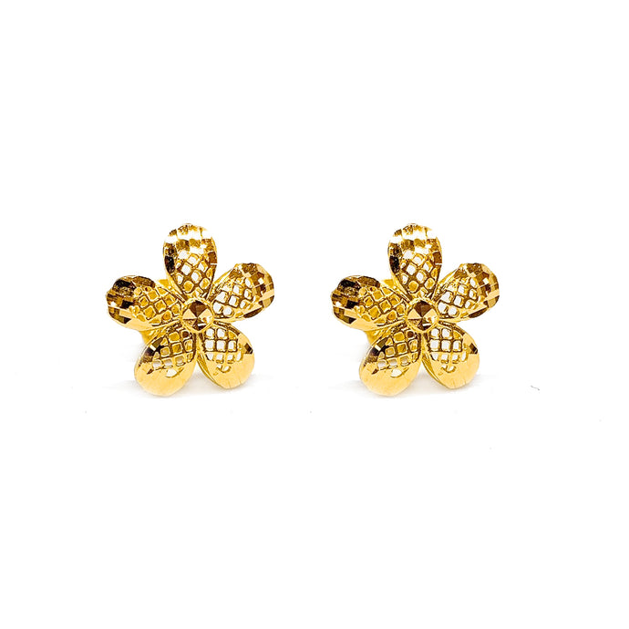 Mesh Flower Earring Stud