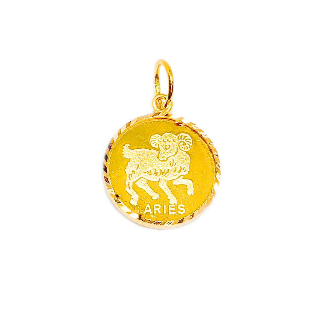Horoscope Medallion Pendant - Aries