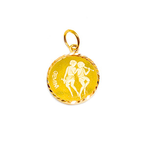 Horoscope Medallion Pendant - Gemini