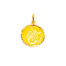 Horoscope Medallion Pendant - Scorpio