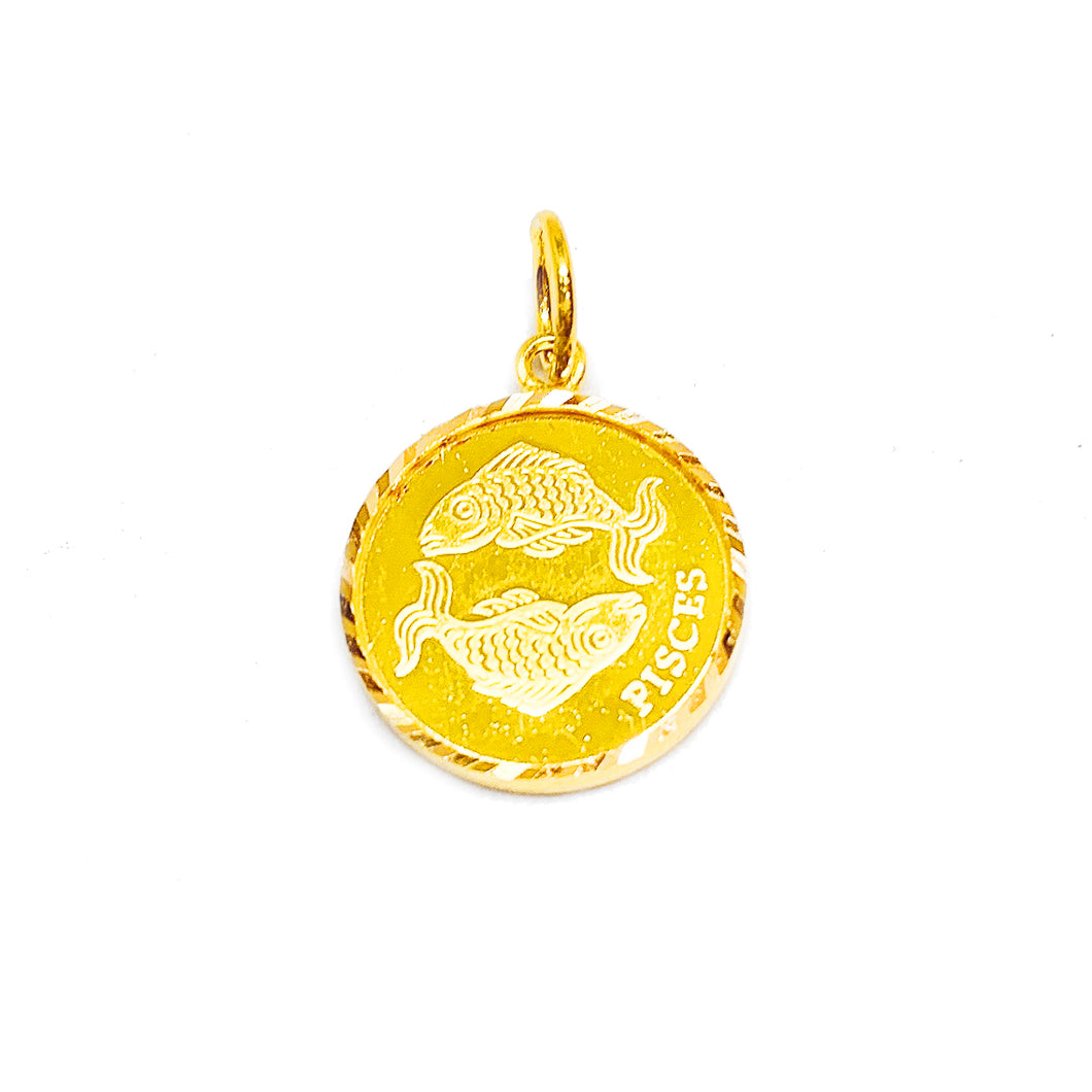 Horoscope Medallion Pendant - Pisces