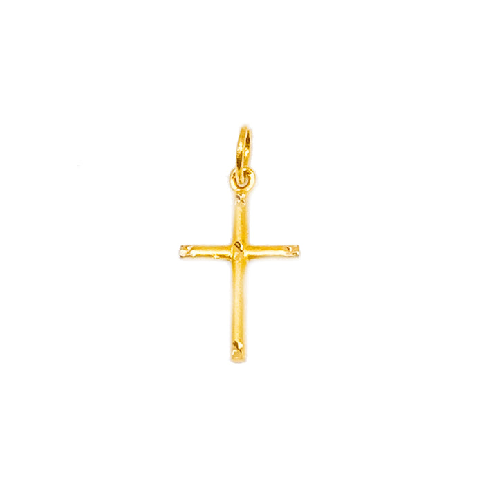 Matte With Sparkles Simple Cross Pendant