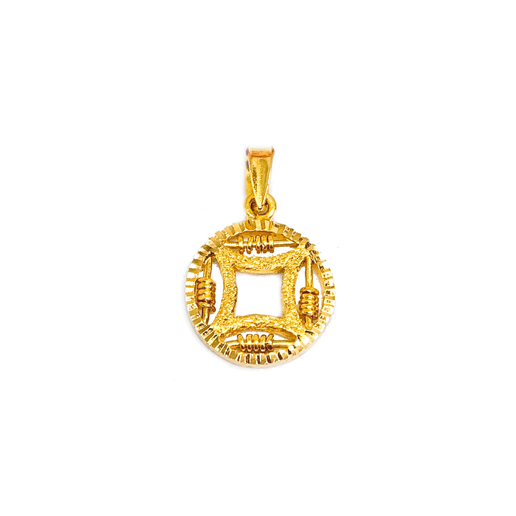 Coin Abacus Pendant