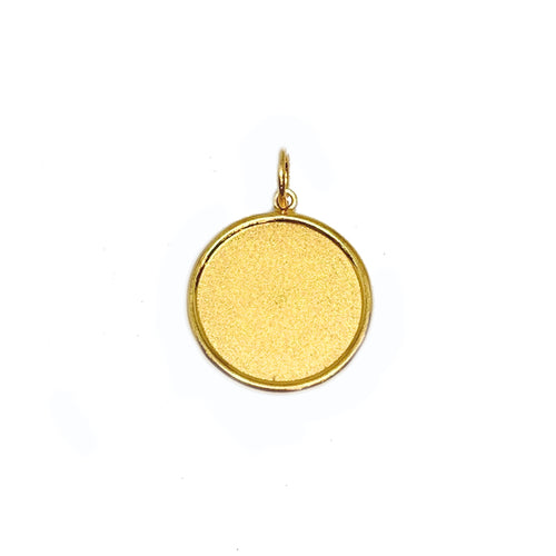 Plain Customisable Round Medallion Pendant