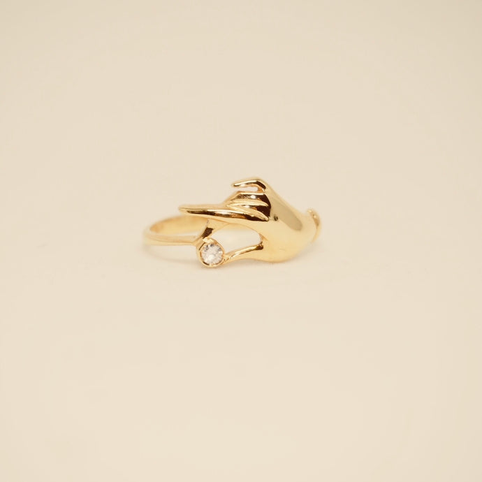 Hold On To The Diamond  Ring - Vintage ( Gold )
