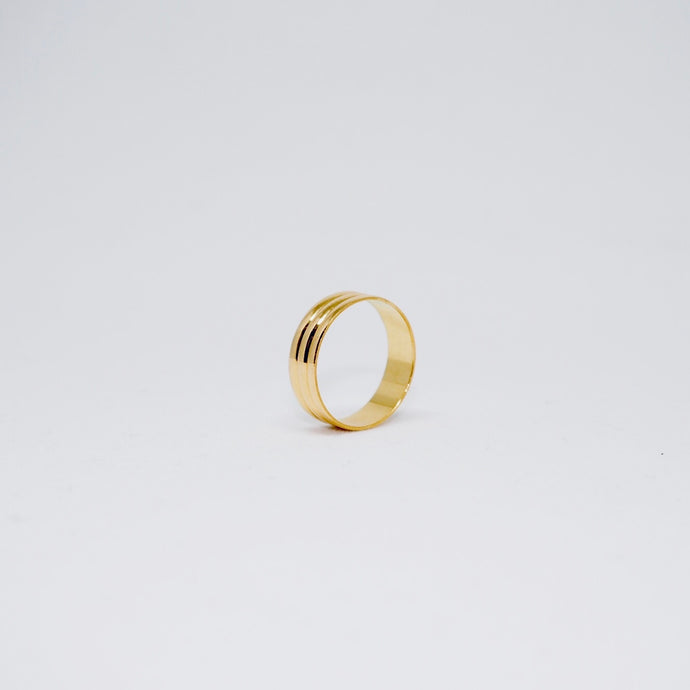 Tin Can Ring - Vintage ( Gold )