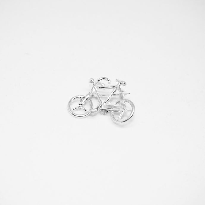 Silver Bicycle Brooch - Vintage