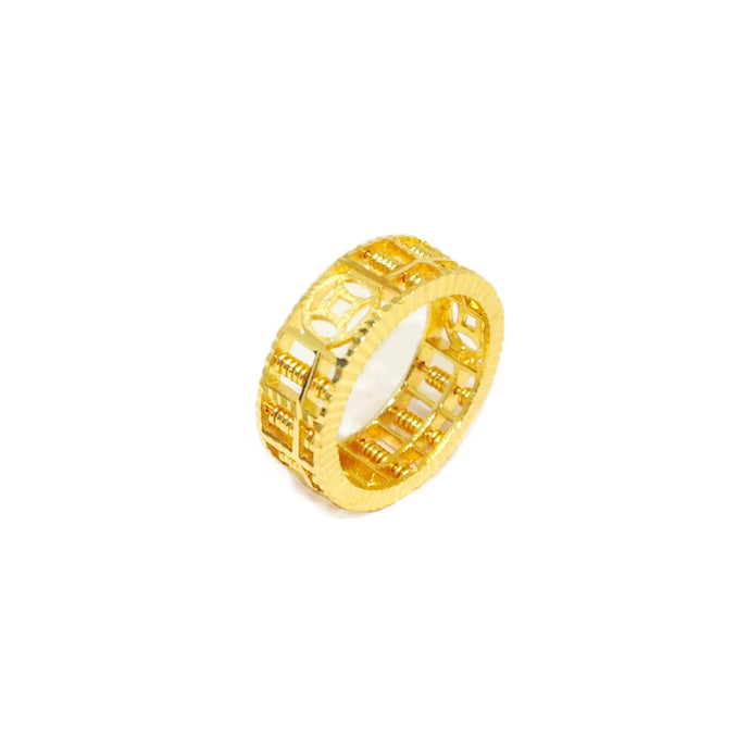 Coin and Abacus Ring
