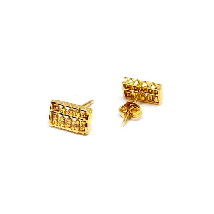 Rectangle Abacus Ear Stud