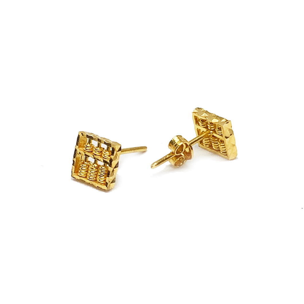 Square Abacus Ear Stud